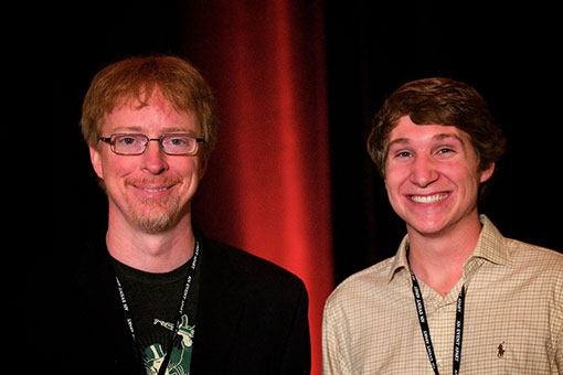 Luckie Digital Designer Chris Nager, right, with CSS guru Eric Meyer