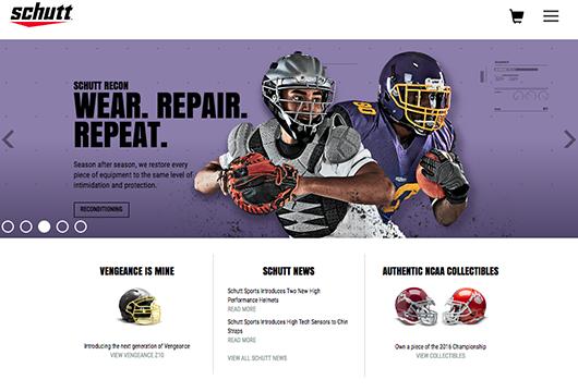 Schutt Sports Website