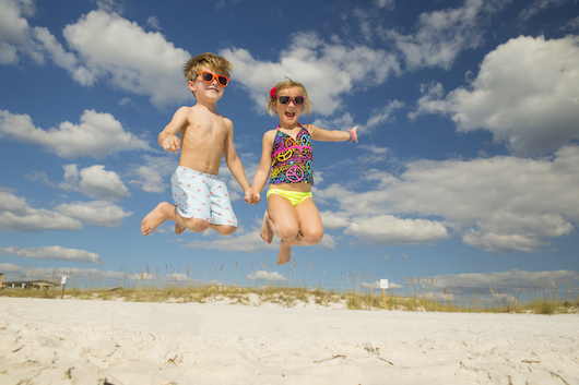 Kids Playing on Panama City Beach