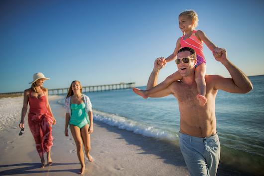 Family Playing at Panama City Beach